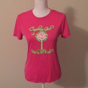 Carolina Girl t-shirt In Pink And Green